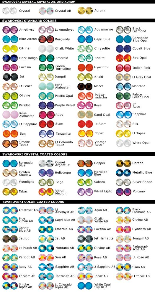 Rhinestone Colors